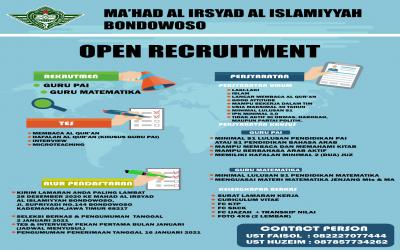 Open Recruitment Ma'had Al Irsyad Al Islamiyyah Bondowoso