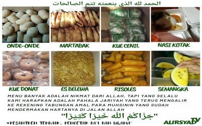 Suasana Ifthar Para Santri Mahad Al Irsyad Al Islamiyyah Bondowoso saat Buka Bersama (Puasa Sunnah)